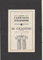 """Publicité Env.1925 Catalogue Fabrique Echarpes,Drapeaux,Médailles,équipement Corbillards """"M. Grandin"""" à Montpeller"""" - Pubblicitari"""