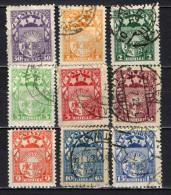 LETTONIA - 1921 - STEMMA DELLA LETTONIA - VALORI IN RUBLI - USATI - Letonia