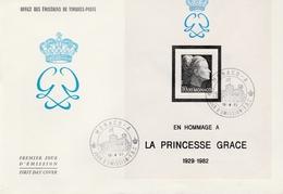 Bloc Princesse Grace BF N°24 - FDC Monaco 1983 - Cote Bloc : 12 € - FDC