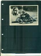 CARTE POSTALE PHOTO MOTO DARIO AMBROSINI ( CHAMPION DU MONDE) AVEC AUTOGRAPHE A PARTIR DE 2.50 EUROS - Motociclismo