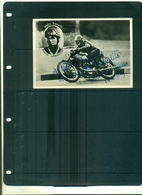 CARTE POSTALE PHOTO MOTO DARIO AMBROSINI ( CHAMPION DU MONDE) AVEC AUTOGRAPHE A PARTIR DE 2.50 EUROS - Motorradsport