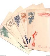 Pochette De 6 Menus En Chromolithographie. Cartons Maintenus Par Une Bande De Papier Avec Cachet. Tb état. - Menus