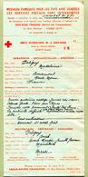 """MESSAGES FAMILIAUX - CROIX ROUGE FRANCAISE """" 1943  WW2  (Délégation Du Maroc) - Cruz Roja"""