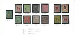 13 Timbres D' Anciennnes Colonies  ( 1892/1900 )...à Voir Et à Saisir...... - France (former Colonies & Protectorates)
