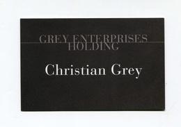"""Carte De Visite """"Grey Enterprises Holding - Christian Grey"""" Film Cinquante Nuances De Grey (Fifty Shades Of Grey) Cinéma - Visiting Cards"""