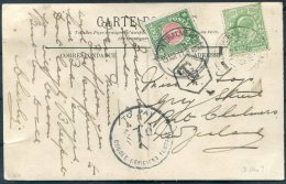 1911 New Zealand GB France Dunkirtk Postcard - Port Chalmers, Postage Due, Taxe, To Pay - Covers & Documents