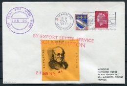 1971 GB Postal Strike Cover. France Le Havre, Southampton Letter Service, Rowland Hill - 1952-.... (Elizabeth II)