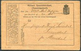 1906 Norway Military Stationery Postcard. Militaert Tjenesbrevkort - Norway