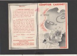 """Publicité Env.1930 Catalogue Dépliant """"Comptoir Cardinet"""" Bijouterie,Montres,Orfévrerie,Carillons,pendules,etc. à Paris - Pubblicitari"""