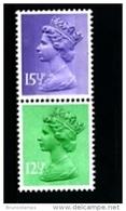 GREAT BRITAIN - 1982  MACHIN   12 1/2+15 1/2p.  DOUBLE STAR  PAIR MINT NH  SG X898Eu+X907Eu - 1952-.... (Elisabetta II)