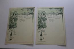 Lot De 2 Menus Des Grands Vins Blancs De Cassis Pour Le Restaurant Laure Et Pétrarque Année 20 ?? - Menus