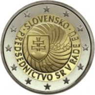 Eslováquia 2euro Cc - Primera Presidencia De La República Eslovaca, Del Consejo De La Unión Europea - 2016 UNC - Slovakia