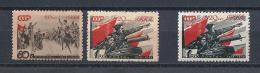 URSS606) 1938 - Vent.le Armata Rossa - Alti Valori 3val MLH - Nuovi