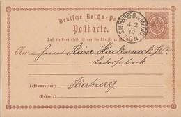 DR Ganzsache K1 Sternberg In Meckl. 4.2.75 Gel. Nach Harzburg - Briefe U. Dokumente