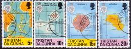TRISTAN DA CUNHA 1980 SG #296-99 Compl.set Used Royal Geographical Society - Tristan Da Cunha