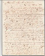 Livorno Per Alessandria D'Egitto, Lettera Manoscritta Con Contenuto Interessante. 22 Agosto 1844 - Manuscripts