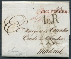 1827 GB London Entire - Madrid, Spain - ...-1840 Prephilately