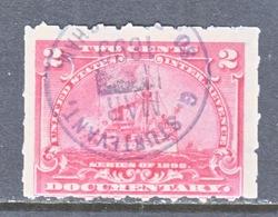 U.S. R 164p   HYPHEN-HOLE  7   (o)   BATTLESHIP - Revenues