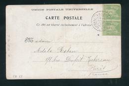 ZZ417 -- Bureau Français De RHODES (Grèce) - RARE Carte-Vue TP Sage Déf. RHODES Turquie D' Asie 1902 - 1898-1900 Sage (Type III)