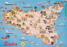 CPSM - SICILIA - Carte - Italie - GF.2936 - Unclassified