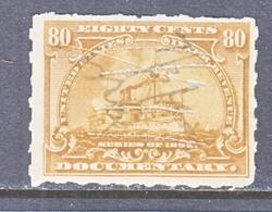 U.S. R 172p   HYPHEN-HOLE  7   Cut Cd.  (o)   BATTLESHIP - Revenues