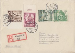 DR R-Brief Mif Minr.739,759,Zdr.S 258 Würzburg 14.1.41 - Germany