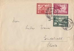 DR Brief Mif Minr.773,774,775 Berlin 25.11.41 Gel. In Schweiz Zensur - Briefe U. Dokumente