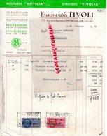 03- MONTLUCON- FACTURE ETS. DU TIVOLI-MOUTARDE VINAIGRE VOTILIA-MOUTARDERIE VINAIGRERIE -173 RUE REPUBLIQUE- 1950 - Food