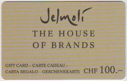 GIFT CARD - SWITZERLAND - JELMOLI 27 - Gift Cards