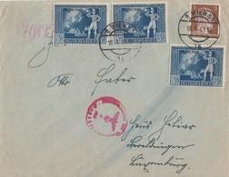 DR Brief Mif Minr.782,3x 823 Wien 18.1.43 Gel. Nach Luxemburg Zensur - Briefe U. Dokumente