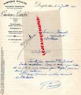 03- DOYET- RARE LETTRE MANUSCRITE SIGNEE GUSTAVE LANORD-FABRIQUE HUILES- HUILERIE -1930 - Food