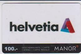 GIFT CARD - SWITZERLAND - MANOR 267 - HELVETIA - Gift Cards