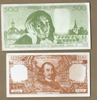 4 Billets Usages Scolaire - Banque De France - (Asco Juziers- Billet , Billets Factice à Usage Scolaire - Fictifs & Spécimens