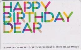 GIFT CARD - SWITZERLAND - MANOR 268 - HAPPY BIRTHDAY DEAR - Gift Cards