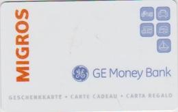 GIFT CARD - SWITZERLAND - MANOR 269 - GE MONEY BANK - Gift Cards