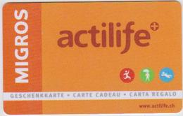 GIFT CARD - SWITZERLAND - MANOR 270 - ACTILIFE - Gift Cards