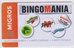 GIFT CARD - SWITZERLAND - MANOR 271 - BINGOMANIA - Gift Cards