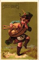 0055 Liebig S 55 Set Of  6 Chromos Litho Cards  C1873 Rare Complete, Boy Scot Scotland Scottish Bagpipes TESTU Et MAssin - Liebig