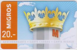 GIFT CARD - SWITZERLAND - MANOR 273 - CROWN - Gift Cards