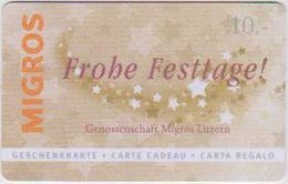 GIFT CARD - SWITZERLAND - MANOR 275 - FROHE FESTTAGE - Gift Cards