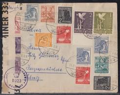 Gemeina. Brief Mit Minr.959,960 Usw. Plettenberg 24.9.47 Gel. In Schweiz Zensur - Gemeinschaftsausgaben