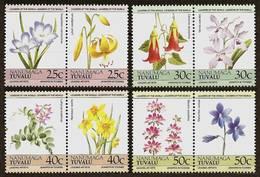 TUVALU Nanumaga 1985 - FLOWERS - 4 Pairs Mi 41-48 MNH ** Cv€5,00 V1005 - Tuvalu