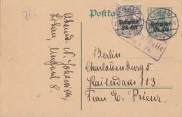 Ober-Ost Ganzsache Zfr. Minr.1 Libau Zensur - Besetzungen 1914-18