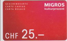 GIFT CARD - SWITZERLAND - MANOR 280 - Gift Cards