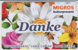 GIFT CARD - SWITZERLAND - MANOR 282 - DANKE - Gift Cards