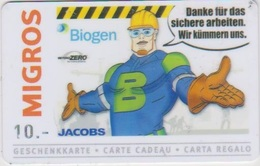 GIFT CARD - SWITZERLAND - MANOR 285 - BIOGEN - JACOBS - Gift Cards