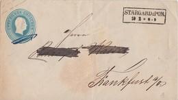 Preussen GS-Umschlag 2 Silb.Gr. R2 Stargard I. Pom. 10.2. Gel. Nach Frankfurt/O. - Preussen