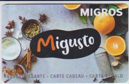 GIFT CARD - SWITZERLAND - MANOR 287 - MIGUSTO - ORANGE - Gift Cards