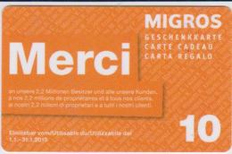 GIFT CARD - SWITZERLAND - MANOR 292 - MERCI - Gift Cards