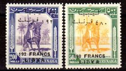 1952; TPs De Cirenaica, Surchargés, Michel-No. 22 + 23 / Sassone No. 22/I + 23/I, Neuf **, Lot 31694 - Libya